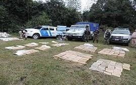Secuestraron 700 kilos de marihuana que eran trasladados en un auto en Corrientes