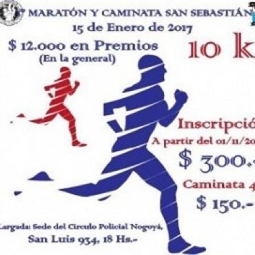 Este domingo se realizará la maratón y caminata San Sebastián en Nogoyá