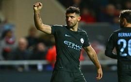 23/01/2018: Copa de la Liga Agüero volvió a marcar y el Manchester City es finalista