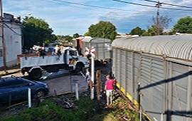 15/01/2019: Vagones del ferrocarril fueron dispuestos para alojar evacuados del barrio Puerto
