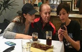 25/01/2019: Máximo Menem, sacado con su padre y Zulemita: