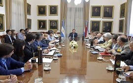 14/01/2019:  Bordet articula con su gabinete acciones de contención social, sanitaria, seguridad e infraestructura