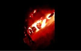 08/01/2021: Un camión se prendió fuego cuando transitaba por ruta 14