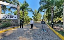 08/01/2021: Instalaron una barrera en uno de los accesos al Parque San Carlos