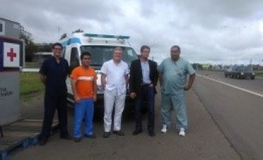 La provincia instala un puesto sanitario en el acceso a Gualeguaychú