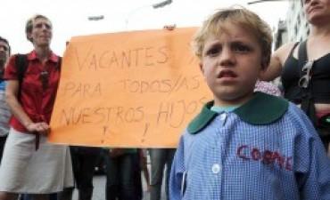 Nueva protesta contra las aulas container del gobierno porteño
