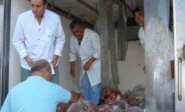 Por falta de documentación se decomisaron 2.000 kilos de cortes cárnicos