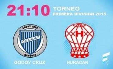 primera división Huracán, con la vuelta de Montenegro, se mide frente a Godoy Cruz