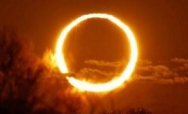 El domingo se verá un eclipse anular en parte del país