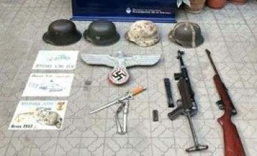 14/02/2018: Secuestraron una colección de objetos nazis en Salta
