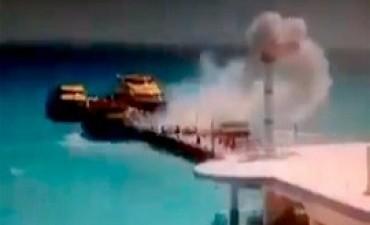 22/02/2018: Explotó un ferry con turistas en el muelle de Playa del Carmen: al menos 25 heridos