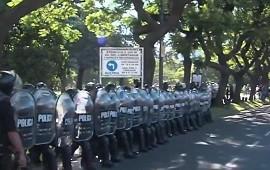 05/02/2019: Incidentes durante marcha a favor de Maduro en Recoleta
