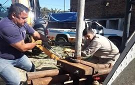 26/02/2019: Obras Sanitarias trabajó en el aumento del caudal de agua en una zona de Concordia