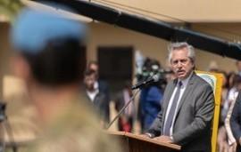 """21/02/2020: Alberto Fernández llamó a """"dar vuelta la página"""" en la relación con las Fuerzas Armadas"""