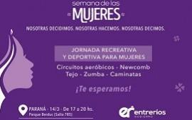 12/03/2019: El gobierno de Entre Ríos realizará una jornada deportiva para mujeres en el Parque Berduc