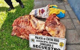 05/03/2021: Iba a entrar al campo y encontró que le habían faenado un toro de 500 kilos