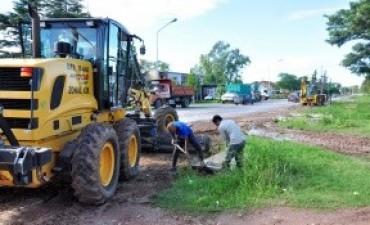 Refuerzan tareas viales en barrios de la capital entrerriana tras el temporal