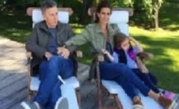 13/04/2017: Macri viajó a Tandil, donde pasará Semana Santa junto a su esposa y su hija Antonia