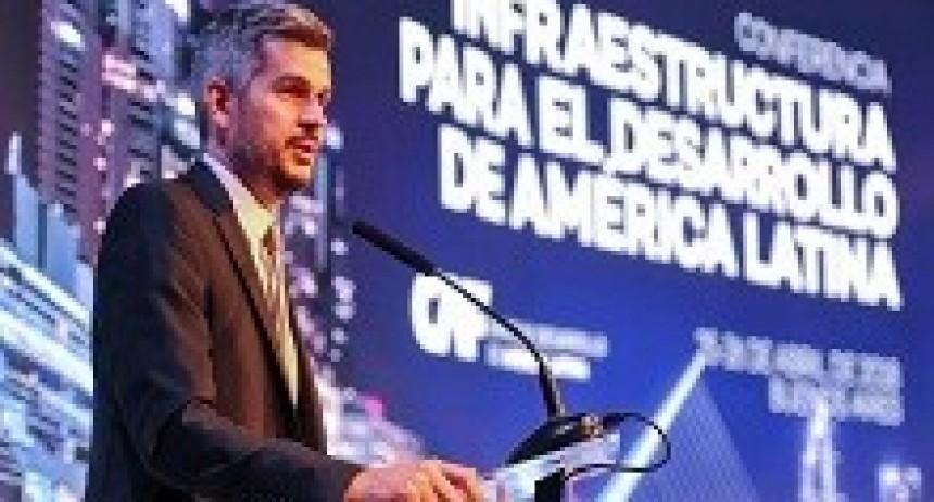 25/04/2018: El jefe de Gabinete inauguró la Conferencia Infraestructura para el Desarrollo de América Latina.