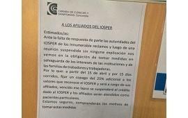 """18/04/2019: IOSPER afirma que no puede aceptar """"que cinco sanatorios de Concordia pretendan manejar"""" las prestaciones"""