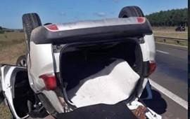 08/04/2019: Perdió el control de su vehículo y terminó con las ruedas hacia arriba