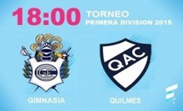 primera división Gimnasia quiere seguir de racha ante Quilmes en el Bosque