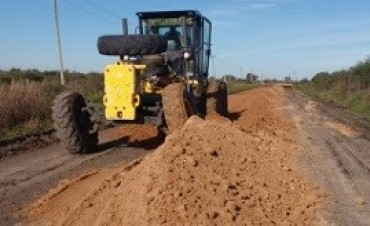 24/05/2017: Entre Rios, Avanzan los trabajos de mantenimiento del camino productivo de Jubileo