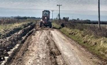 26/05/2017: Vialidad continúa con las tareas de mejoramiento de los caminos en la provincia