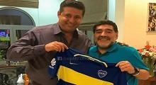 10/05/2018: Maradona festejó el título y elogió a Angelici