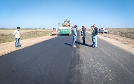 16/05/2019: Se trabaja en la construcción de la ruta Nº 51 desde Larroque a Parera