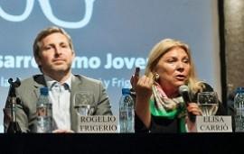 """16/05/2019: Carrió responsabilizó a Frigerio por la """"mayor intención de voto de Bordet"""" en las PASO"""