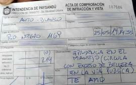 30/05/2019: Insólito: inspector de tránsito declaró su amor mediante una multa