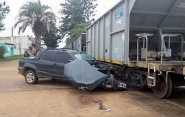 30/05/2019: Una camioneta chocó contra una formación ferroviaria y se cortaron dos avenidas