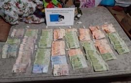 26/05/2020: Secuestraron casi 150 mil pesos en un operativo por narcomenudeo