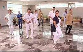 05/05/2021: Trabajadores del Masvernat hicieron una coreografía para concientizar en el Día del Lavado de Manos