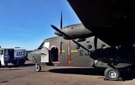 07/05/2021: Aterrizó en el aeropuerto de Concordia un avión del Ejército Argentino