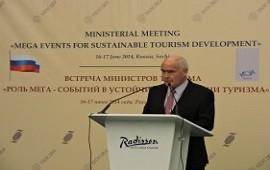 Meyer expuso en Rusia sobre la importancia de los grandes eventos