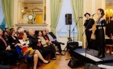 Tango en Londres: María Volonté dio un recital en la embajada