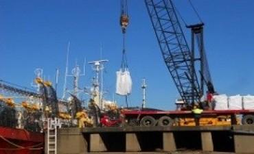 Descargaron 400 toneladas de calamar en el Puerto de Concepción del Uruguay