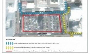 Comienza la restricción para estacionar en Casa de Gobierno