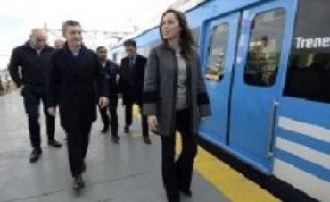 Macri, junto a Vidal, recorrió el nuevo tramo electrificado de la línea Roca
