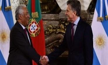 13/06/2017: Macri recibió al primer ministro de Portugal en Casa de Gobierno