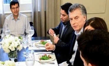 28/06/2017: Macri almorzó con emprendedores en la residencia de Olivos