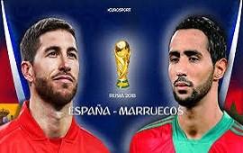 25/06/2018: España empata ante Marruecos en la primera mitad pero igual clasifica
