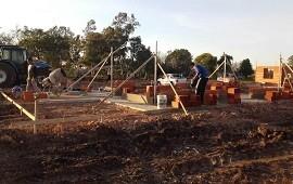 19/06/2018: Están en obra las primeras viviendas del programa provincial Primero Tu Casa