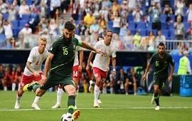 21/06/2018: Australia sacó un empate ante Dinamarca y dejó abierta la definición del Grupo C