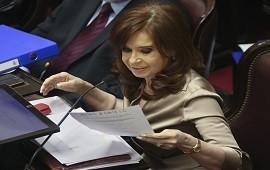 03/06/2019: Cristina Kirchner asistió a una reunión parlamentaria y no participa del juicio por la causa Vialidad