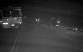 10/06/2019: Adolescente perdió la vida en una curva, al impactar de frente contra un camión