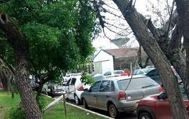 10/06/2019: Un poste cayó sobre un automóvil que estaba estacionado en la vía pública