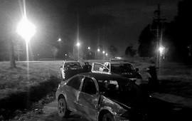 14/06/2019: Destrozó su auto en un violento vuelco en la Autovía Artigas
